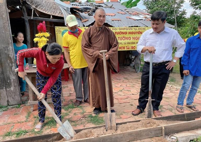 """Khởi công xây dựng """"Mái ấm Tường Nguyên"""" tại xã Phú Phụng, huyện Chợ Lách, tỉnh Bến Tre - Ảnh: CTV"""