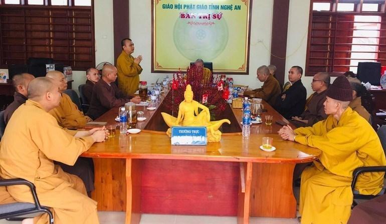 Hội nghị Ban Thường trực Ban Trị sự tỉnh Nghệ An, sáng 11-3