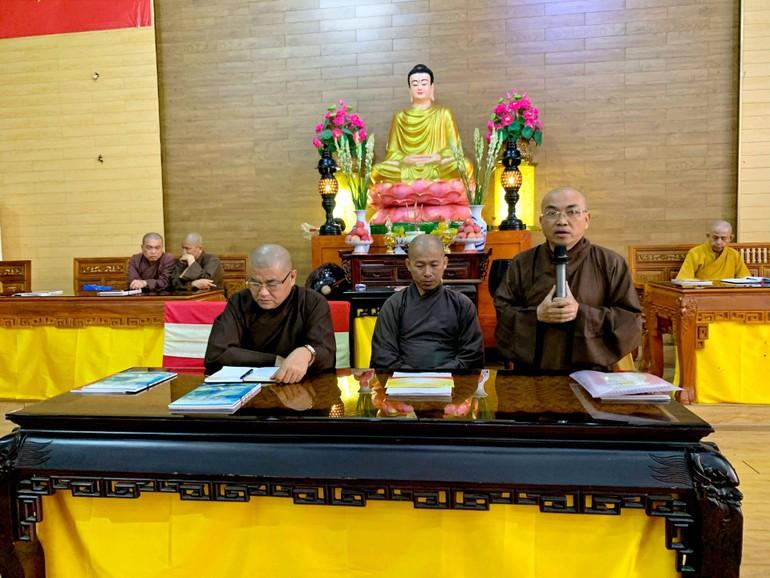 Ban Trị sự Phật giáo tỉnh Kiên Giang họp thường kỳ thảo luận các công tác Tăng sự