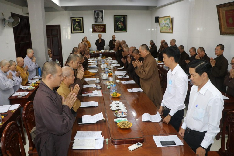 Ban Thường trực Ban Trị sự tỉnh đã họp, báo cáo công tác Phật sự quý I năm 2021