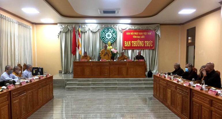 Hội nghị Ban Thường trực chuẩn bị tổ chức Đại hội Phật giáo cấp huyện, thị, thành phố