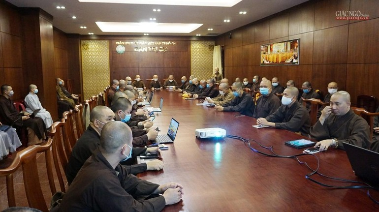 Ban Thư ký Ban Trị sự GHPGVN TP.HCM họp, tập huấn cùng Ban Thư ký GHPGVN quận huyện