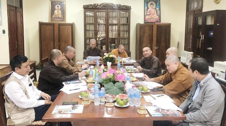 Thường trực Ban Thông tin - Truyền thông Trung ương Giáo hội họp tại chùa Quán Sứ - Hà Nội
