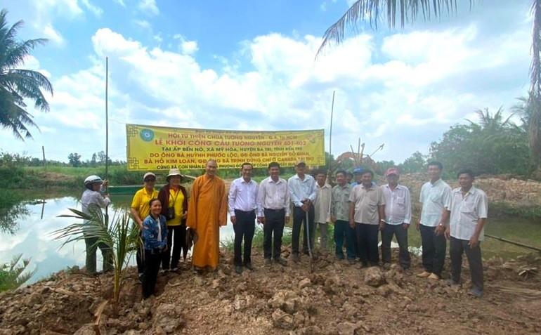 Khởi công xây dựng 2 cây cầu Tường Nguyên 4-1-402 tại xã Mỹ Hòa, huyện Ba Tri