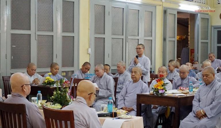 Chư Ni Phân ban Ni giới Phật giáo TP.HCM tổ chức buổi họp tại tổ đình Từ Nghiêm