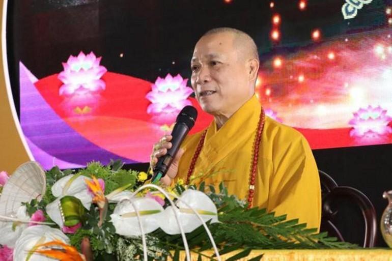 Hòa thượng Thích Bảo Nghiêm ký thông báo về tập huấn công tác tuyên truyền hướng đến 40 năm thành lập GHPGVN