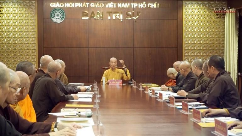Ban Thường trực Ban Trị sự TP.HCM họp, triển khai công tác tổ chức Đại lễ Phật đản