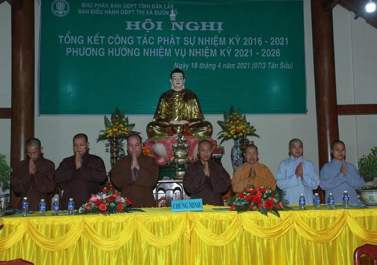 Ban Điều hành Gia đình Phật tử thị xã Buôn Hồ tổ chức hội nghị tổng kết Phật sự nhiệm kỳ 2016-2021