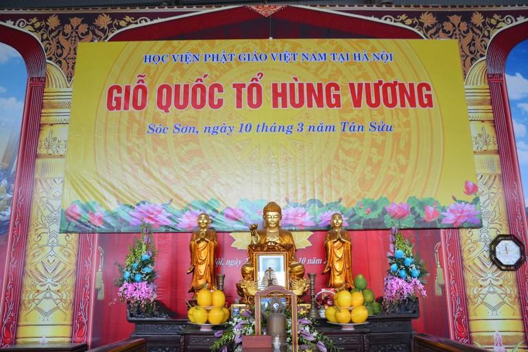 Chư tôn đức Học viện Phật giáo VN tại Hà Nội, Tăng Ni sinh dâng hương tưởng niệm các Vua Hùng