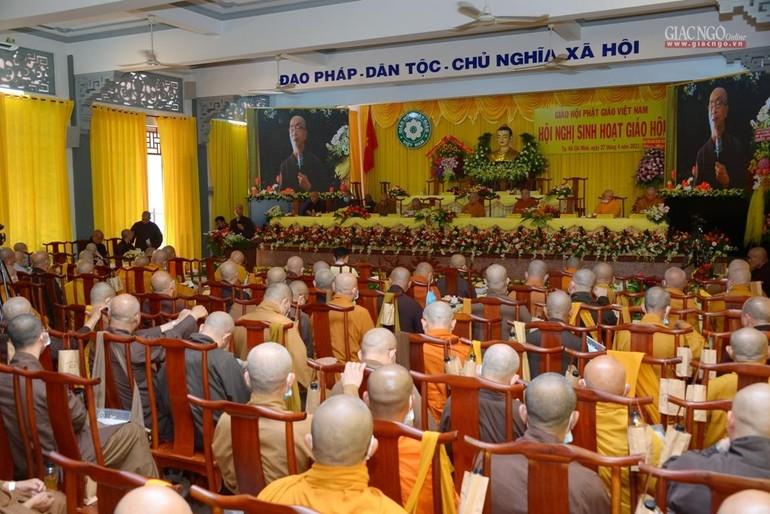 Quang cảnh phiên thảo luận của Hội nghị sinh hoạt Giáo hội năm 2021