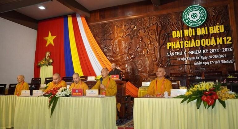 Phiên trù bị Đại hội đại biểu Phật giáo quận 12 nhiệm kỳ 2021-2026, tại tu viện Khánh An