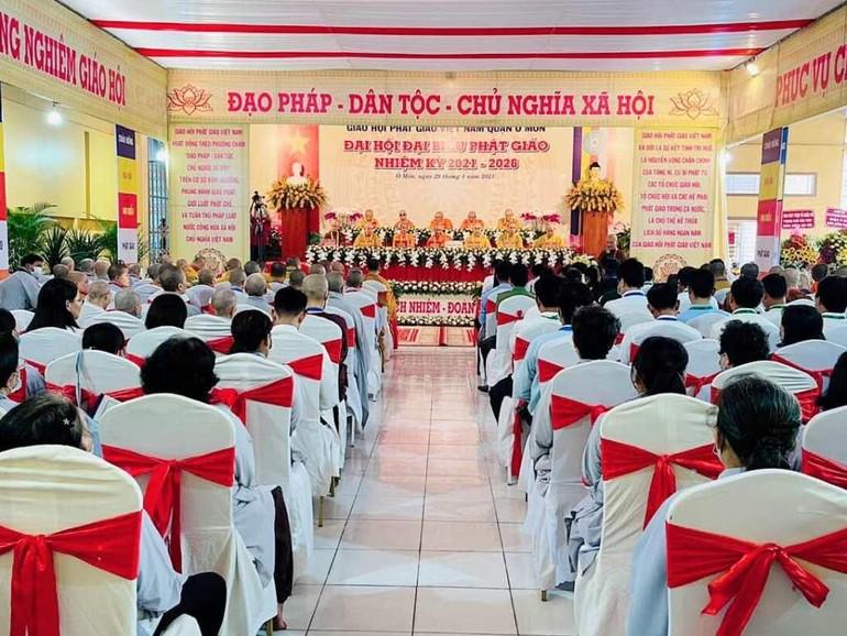 Ban Trị sự GHPGVN quận Ô Môn đã tổ chức Đại hội đại biểu Phật giáo quận Ô Môn nhiệm kỳ 2021-2026
