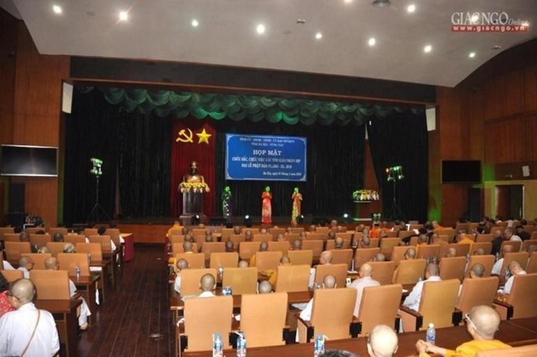 Tỉnh ủy, UBND, HĐND, Ủy ban MTTQVN tỉnh Bà Rịa – Vũng Tàu họp mặt chúc mừng nhân Đại lễ Phật đản (năm 2019)
