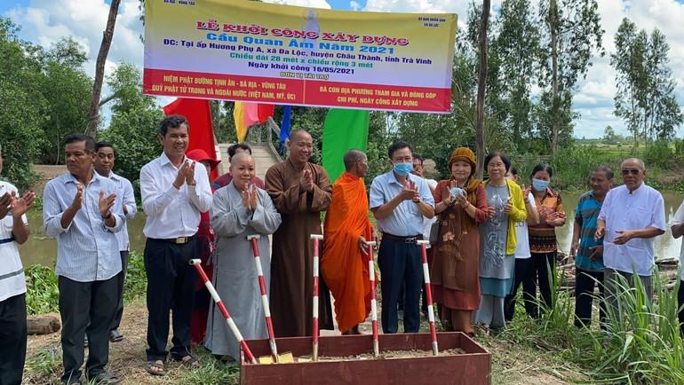lễ khởi công xây dựng cầu Quan Âm năm 2021, tại ấp Hương Phụ A, xã Đa Lộc