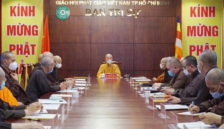 Ban Thường trực Ban Trị sự GHPGVN TP.HCM đã họp, thảo luận hoạt động Phật sự, chuẩn bị tổ chức Đại lễ Phật đản