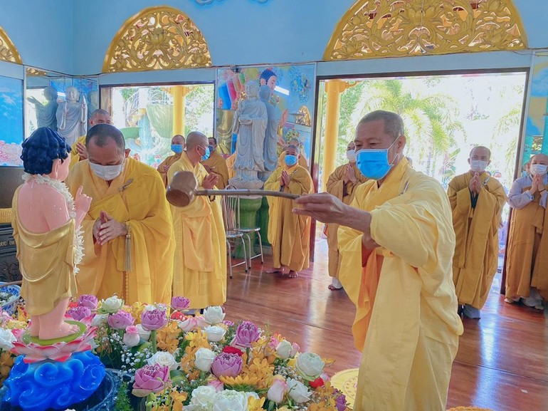 Ban Trị sự Phật giáo huyện Châu Thành tổ chức Đại lễ Phật Đản Phật lịch 2565 tại chùa Hội Tôn