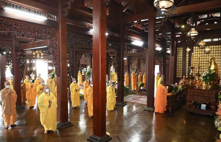 Tổ đình Sắc tứ Khải Đoan kiết giới giới, khai chung bảng, tác pháp An cư kiết hạ Phật lịch 2565