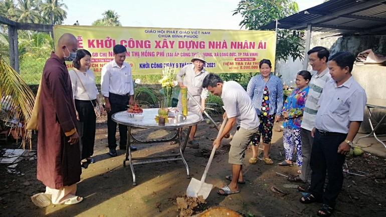 Chùa Bình Phước khởi công xây dựng nhà nhân ái cho hộ nghèo