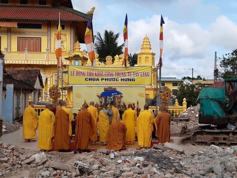 Lễ động thổ xây dựng Tây lang chùa Phước Hưng, TP.Sa Đéc