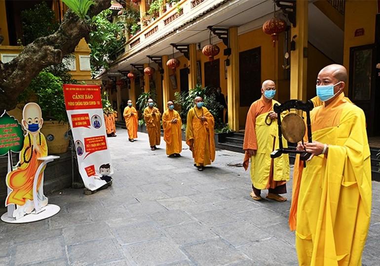 Chùa Quán Sứ tổ chức lễ tác pháp an cư Phật lịch 2565 theo truyền thống An cư kiết hạ