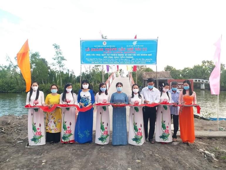 Cây cầu Chí Tài số 1 được đưa vào sử dụng tại xã Tân Hưng, huyện Cái Nước, tỉnh Cà Mau