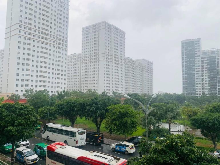 Sài Gòn chiều nay mưa rồi. Những chiếc xe không còn hối hả, những tán cây xôn xao đón giọt mưa rào