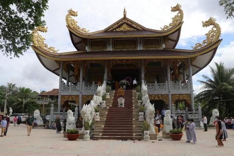 Chùa Vĩnh An được Ban Trị sự Phật giáo tỉnh cho mượn tạm làm nơi nghỉ của y bác sĩ tuyến đầu điều trị Covid-19