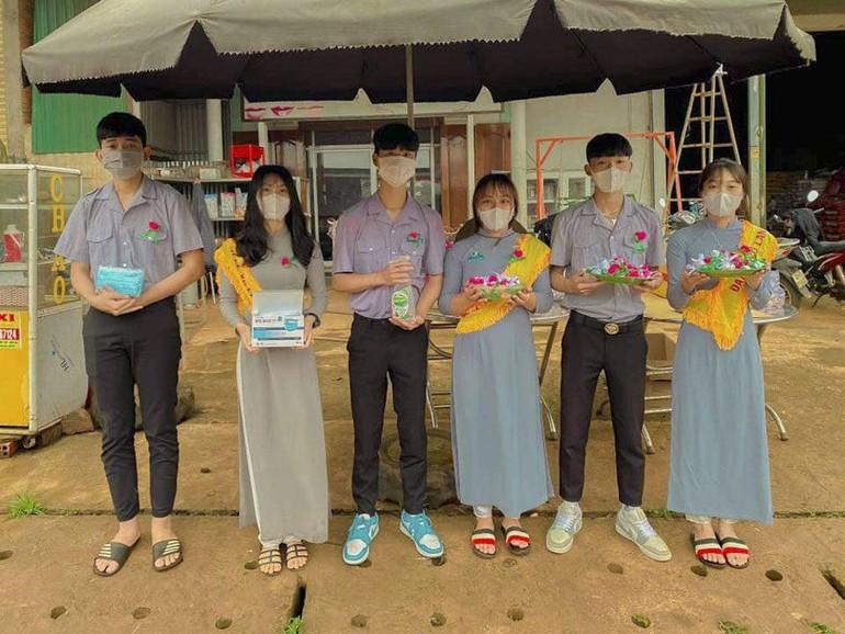 Niềm hạnh phúc của đoàn sinh Gia đình Phật tử trong ngày Đại lễ Vu lan