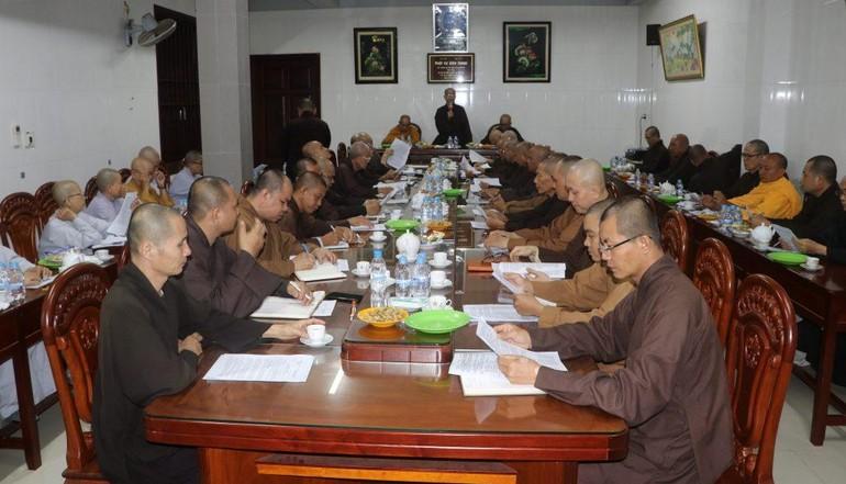 Ban Trị sự GHPGVN tỉnh Bến Tre họp quý III - năm 2020