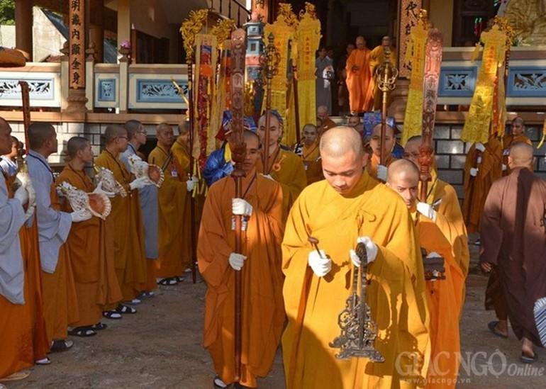 Đại giới đàn Cam Lộ - Giác Ngộ tại chùa Minh Thành (Gia Lai) - năm 2015