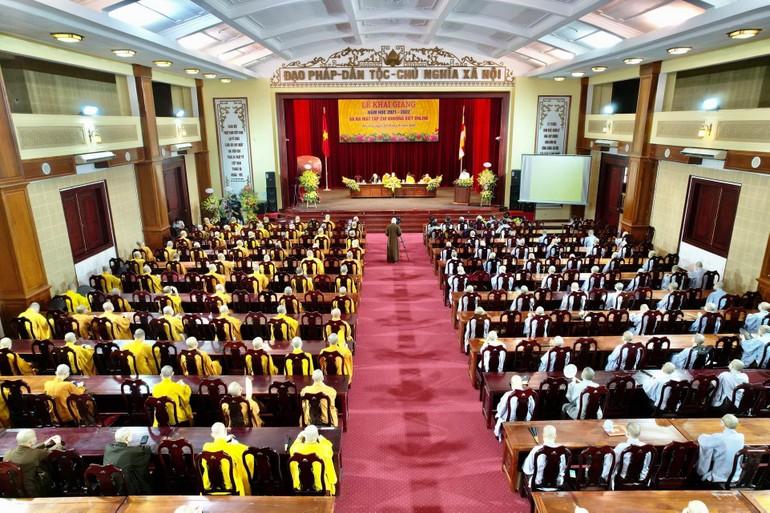 Lễ khai giảng năm học 2021-2022 của Học viện Phật giáo VN tại Hà Nội