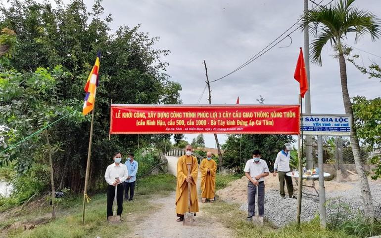 Ban Trị sự GHPGVN huyện Tân Thạnh phối hợp với UBND xã Kiến Bình
