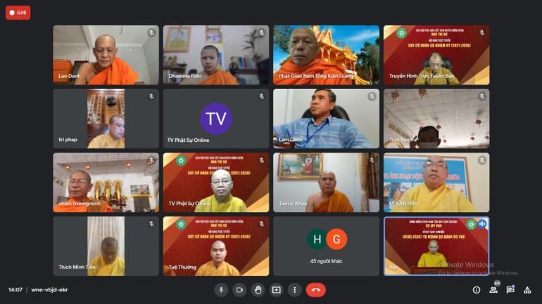 Ban Trị sự GHPGVN huyện Giồng Riềng đã tổ chức hội nghị trực tuyến suy cử nhân sự nhiệm kỳ VII (2021-2026)