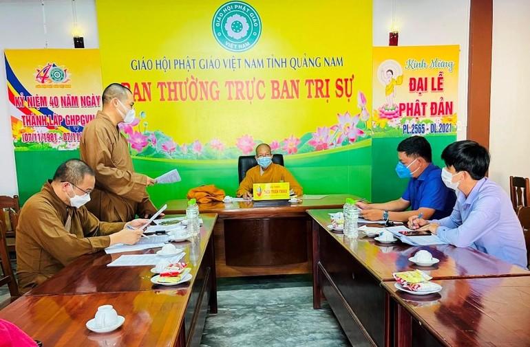 Ban Trị sự GHPGVN tỉnh Quảng Nam làm việc cùng Hội Liên hiệp Thanh niên VN tỉnh