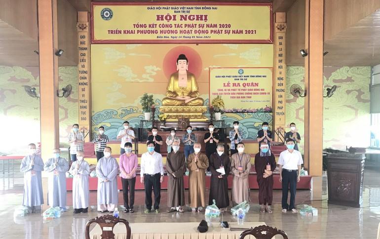 Đây là đợt 3 tình nguyện viên Phật giáo Đồng Nai xuất phát hỗ trợ cho cộng đồng phòng chống Covid-19