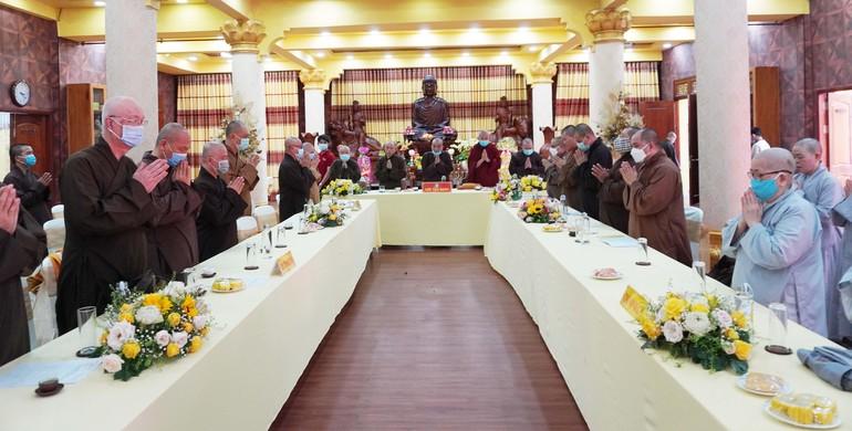 Chư tôn đức Phật giáo quận 3 họp Phật sự quý 1 và triển khai đại hội quận