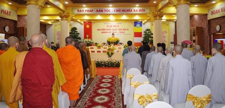 Phiên trù bị Đại hội Phật giáo quận 3 nhiệm kỳ 2021-2026 tại chùa Minh Đạo, chiều 20-3