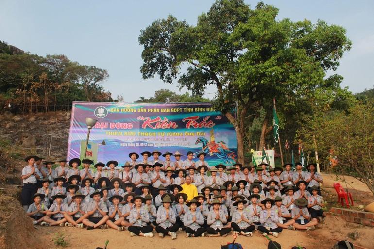 Phân ban Gia đình Phật tử tỉnh Bình Định tổ chức trại Kiền Trắc