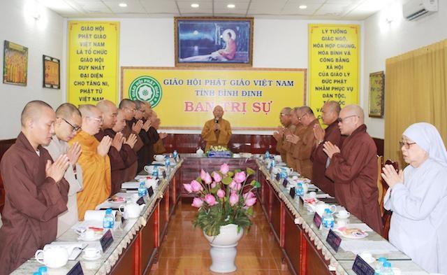 Ban Thường trực Ban Trị sự GHPGVN tỉnh Bình Định họp, triển khai đại hội Phật giáo cấp huyện