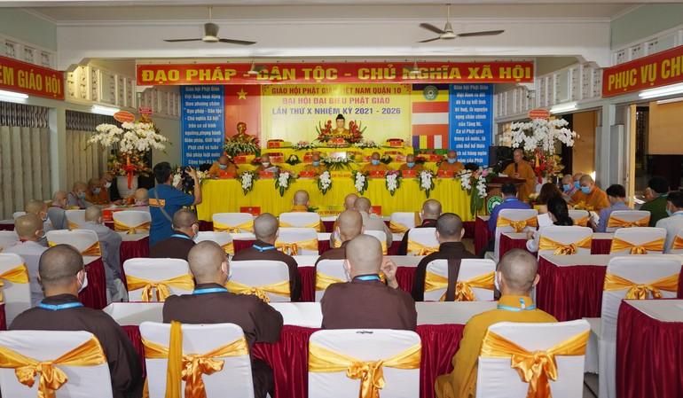 Phiên trù bị Đại hội đại biểu Phật giáo quận 10 nhiệm kỳ 2021-2026