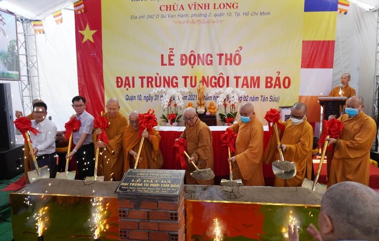 Lễ động thổ đại trùng tu chùa Vĩnh Long, quận 10, TP.HCM