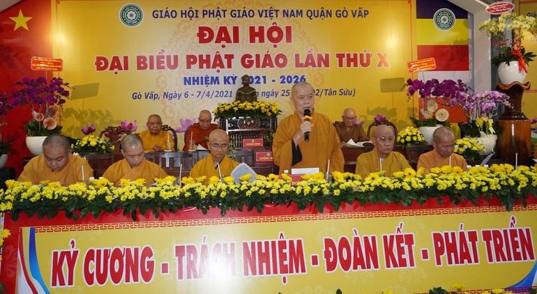 Phiên trù bị Đại hội Phật giáo quận Gò Vấp nhiệm kỳ 2021-2026