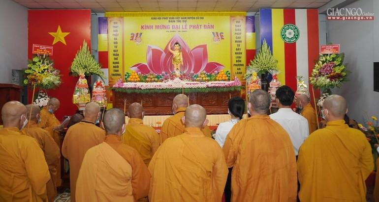Phật giáo huyện Củ Chi trang nghiêm tổ chức đại lễ Phật đản Phật lịch 2565 tại chùa Hoằng Linh