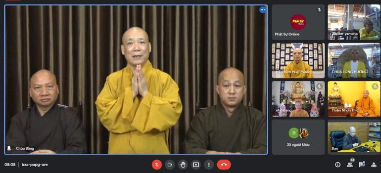 Ban Hoằng pháp Trung ương họp trực tuyến sơ kết hoạt động Phật sự 6 tháng đầu năm 2021