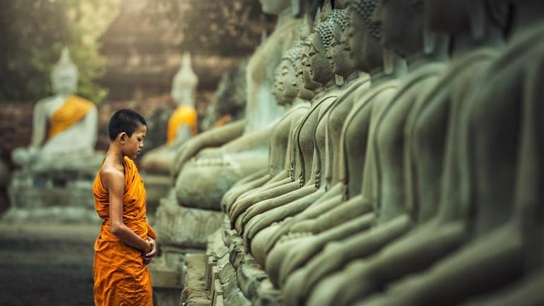 """""""Cúng dường Tăng chúng"""" là thể hiện """"lòng cung kính đối với Đức Phật và Tăng"""". Ảnh minh họa"""