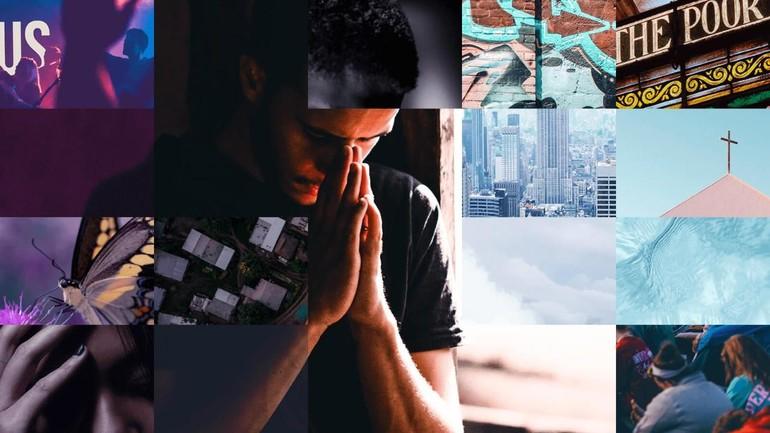Một người Mỹ đang cầu nguyện, ảnh internet