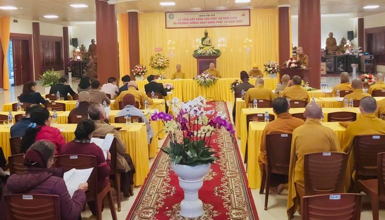 Hội nghị tổng kết Phật sự năm 2020 tại chùa Diệc (TP.Vinh)