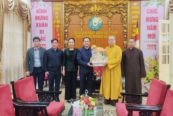 Đoàn Ban Tôn giáo Chính phủ thăm và chúc Tết GHPGVN tại chùa Quán Sứ