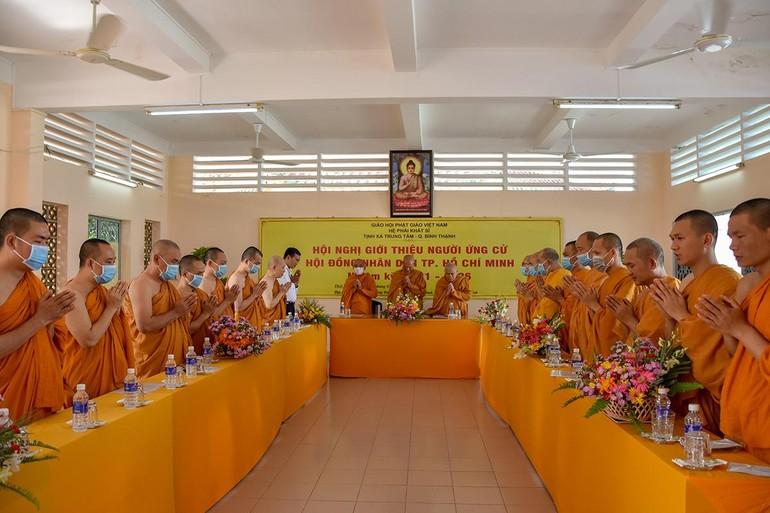 Hội nghị giới thiệu nhân sự đại diện chư tôn đức Hệ phái Khất sĩ ứng cử Hội đồng Nhân dân TP.HCM