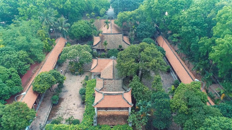 Chùa Vĩnh Nghiêm (Bắc Giang) nhìn từ trên cao